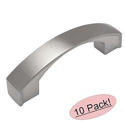 "Cosmas Satin Nickel Modern Cabinet Hardware Arch Handle Pull - 3"" - 10 Pk"