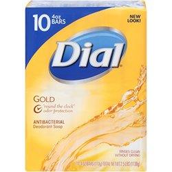 Dial Gold pk. Antibacterial Bar Soap 4-oz, 10