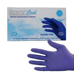 TG Medical Cool Blue Nitrile Exam Gloves  Size: Medium - 200 Pack