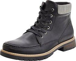 Marco Vitale Men's 42030 2-Tone Laceup Work Boot - Black - Size: 9.5