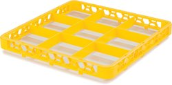 OptiClean 9 Compartment Glass Rack Extender - Yellow - Pack of 6