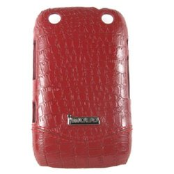 Imobo Leather Cell Phone Case for Blackberry 9320 - Red
