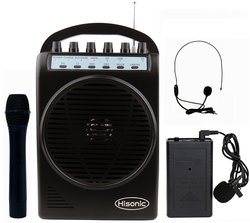 Hisonic Lithium Rechargeable Battery Wireless Portable PA System
