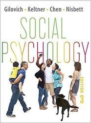 Thomas Gilovich Social Psychology - Third Edition - Paperback
