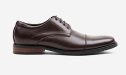 Oak & Rush Men's Cap Toe Oxford Shoes - Brown - Size: 12