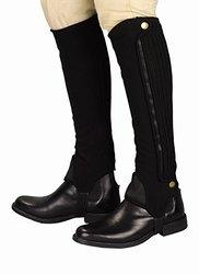 Grippy Nubuck Half Chaps - Black - Size: Medium (100580-640/16/M)