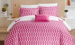 Chic Home Cheska Duvet Cover Set - Fuchsia - Size: Twin XL