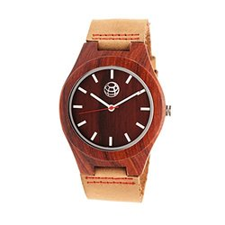 Earth Aztec Men's Watch: ETHEW4103/Camel Band-Red Dial