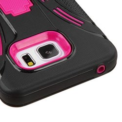 Samsung Galaxy Note 5 Hot Pink/Black Symbiosis Stand Case Cover