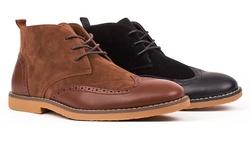 Royal Men's Wingtip Chukka Boots - Black - Size: 9