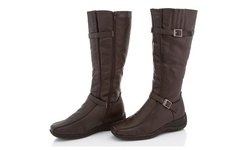 Rasolli Wide Width Comfort Riding Boot - Brown - Size: 7