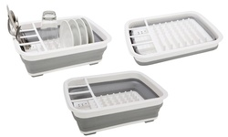 Kennedy Collapsible Dish Rack and Drainer with Cutlery Holder