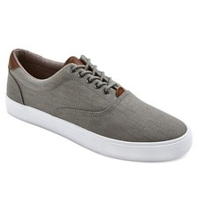 A+ Men's Eddie Sneakers - Grey - Size: 9.5