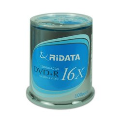 Ridata DVD+r 16x Ridata-s In 100-piece Cake Box (discontinued By Manufacturer)