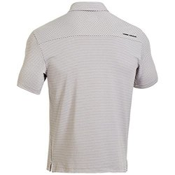 Under Armour Elevated Striped Performance Polo - White - Size: 3XL
