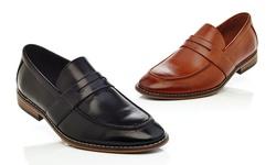 Slip On Loafer Shoes: Cognac/11