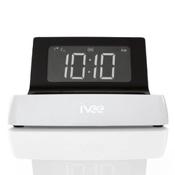ivee Digital Voice-Activated Alarm Clock - White (IV1)