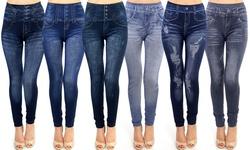 Tu Soft & Comfy Denim Print Leggings  - Modern 4-pack