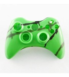 GamerModz Green Shadow Wire Custom Controller Shell for Xbox 360
