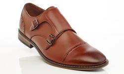 Solo Men's Slip On Mule Dress Shoes - Cognac - Size: 7.5