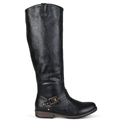 Brinley Co Women's Blaire WC Riding Boot, Black Wide, 9 M US