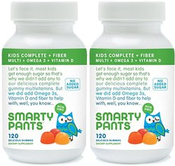 SmartyPants Kids Fiber Complete Multi Vitamin - 120 Gummies - 2 Pack
