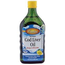 Carlson Cod Liver Oil Natural Lemon Flavor 16.9 Oz