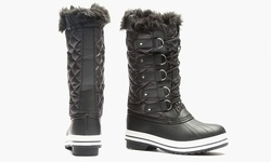 Sociology Sophia Cold Weather Quilted Winter Boot - Black - Size: 7