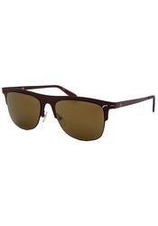 Calvin Klein Square Unisex Sunglasses: 2141s-605 Purple Frame