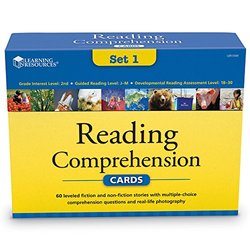 Learning Resources Reading Comprehension Card Set 1