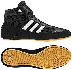 Adidas HVC 2 Wrestling Shoes - Black/White/Grey - Size: 10.5