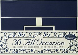 30 Handmade All Occasion Greeting Cards with Reusable Organizer Box