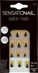 Sensationail Women's Glue Salon Nails - 28 count - Short Design