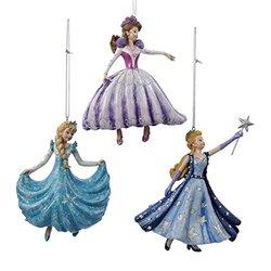 Kurt Adler Dancing And Star Wand Princess Ornament