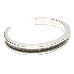signature by Maria Shireen - Hair Tie Bracelet - Steel Silver Glitter - Medium