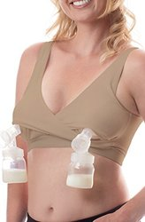 Classic All-In-One Hands-Free Pumping and Nursing Bra - Nude, Large