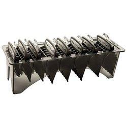 """Wahl Professional Premium Black Cutting Guides #3171-500 - 1/8"""" to 1"""" - Fits All Full Size Wahl Clippers (Excludes Detachable Blade Clippers) - 8 Pack"""