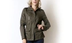 Women's Cargo Jacket - Olive - Size: Medium