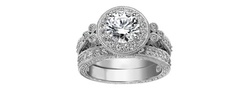 Neil Lane 15 CTTW Two-Piece Engagement Ring Set in 18K White Gold - Size: 6