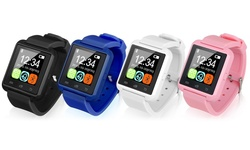 Bluetooth Smart Watch For Men And Women: Black