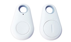 Waloo iTag Bluetooth Selfie Remote Anti-Loss Keychain + Tracker - White