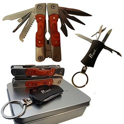 Multitool - Emergency Survival Pocket Tool - Camping Tool with Multi - Tool Keychain - Stainless Steel