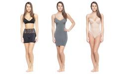 Women's Shaper: Lace Trim-grey/large-xl