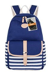 Leaper Thickened Canvas Laptop Bag Shoulder School - Blue1 - Size: Large