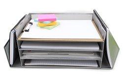 EasyPAG Mesh Desk Letter Tray Literature Organizer - Sliver