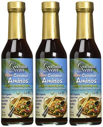 Organic Raw Coconut Aminos Seasoning Sauce - 8Oz - Pack of 3