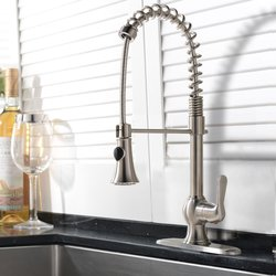 Hotis Modern Kitchen Sink Faucet - Brushed Nickel - SS