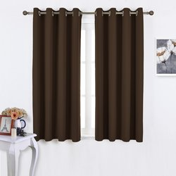 """Nicetown Efficient Blackout Curtains - Toffee Brown - Size: 52"""" X 63"""""""
