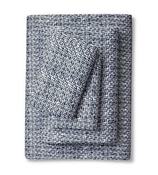 Nate Berkus 4-Piece Linear Bed Sheet Set - Blue - Size: Full
