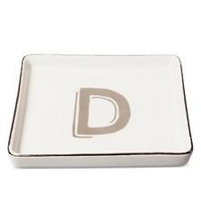 Threshold Monogram Ceramic Trinket Dish - Q Letter